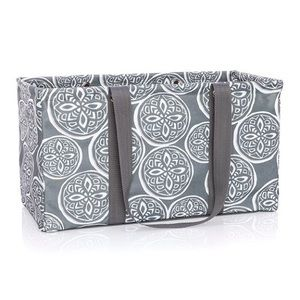 Thirty One Deluxe Utility Tote- Woodblock Whimsy